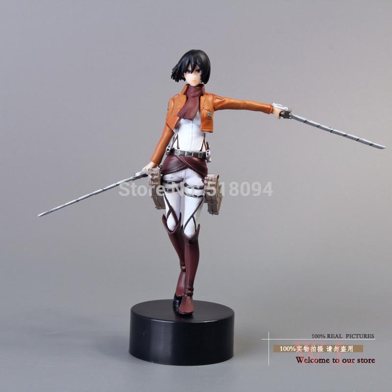 "Free Shipping Anime Attack On Titan Mikasa Ackerman PVC Action Figure Toy Doll 5""12cm ATFG056(China (Mainland))"