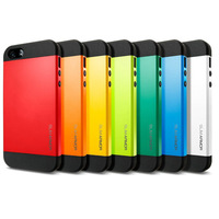 Hot !!! Two-tone Slim S Armor Case For iPhone 5 5S 5G SGP Spigen Affordable Hard Back Pouch Cover Bags, 1 pcs retail RCD00010