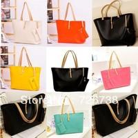 2013 women's handbag female PU bags candy color trend vintage messenger bag shoulder bag