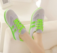 Free shipping hot 2014 leisure two stripes Sports shoes/flat shoes/ women's shoes/walking shoes
