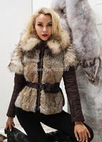 Brand DUCK Down+Rabbit Fur+Raccoon fur+mink fur Jacket,hoody genuine ANIMAL fur Fashion slim Mon Womens Warm winter Outwear Coat