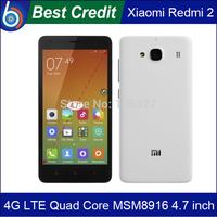 In Stock!100% Original XIAOMI 2 Red Rice Hongmi 1S 4G LTE mobile phone Redmi 2 Quad Core Qualcomm Multi Language WCDMA/Kate