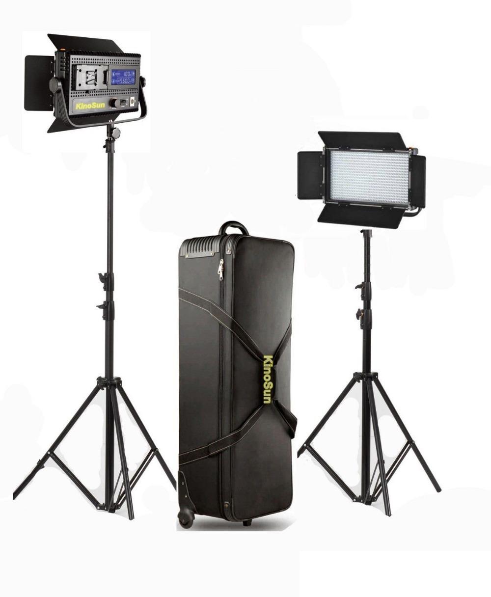 Forte lumière peut être obscurci la lumière du jour 2*led576 thermoplastique 2 stand+1 flycase conduit lampe vidéo