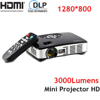 Sales Promotion! High Brightness 1080P HD Projector Mini Projector HDMI Beamer 3000Lumens Portable Size