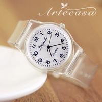 Free Shipping,2014 New Transparent Silicone Strap Classic Elegent Crystal Watch Jelly Watch,Women Dress Watch,Gift Wrist Watch