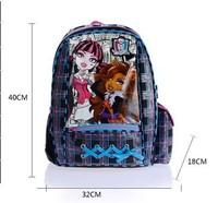 Children school bags school backpacks kids Children Girl's MONSTER HIGH mochila kids Backpacks Cartoon School Bag bag kids