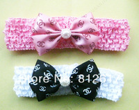 """mix colors 8cm 3-3.5"""" Butterfly bow Baby children clip Hairbands Girls ribbon Headband Knitting Hair Weave New Style"""
