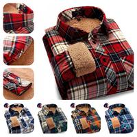 2014 Special Christmas Gifts Thick Men Shirt Long Sleeve/ Warm-Keeping Men's Winter Plaid Shirt / Fashion Design Casual-Shirt
