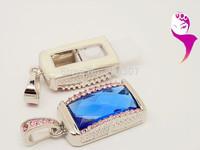 8GB gorgeous fruit pen drive full of diamond jewelry crystal usb flash drive