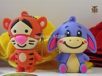 New Cartoon Enough Cheap Cute Tiger USB  flash drive 2 0 Memory Flash Stick donkey Pen Drive 4 -32GB