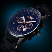 Men Watch Japan Movement Quartz Watch Men Luxury Brand Watches Top Silicone & Zinc Alloy Band Men's Wristwatch
