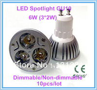 10pcs Dimmable/Non-dimmable LED Spotlight Lamp Bulb GU10 6W Brightness AC 85-265V 480LM Warm/Cool White Epister Spot Light