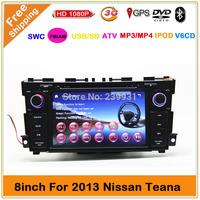 Car DVD player for Nissan Teana Altima 2013 Car GPS Navigation Bluetooth Radio IPOD Video Audio Player  Free map