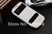 For Samsung Galaxy S3 S 3 SIII i9300 9300 S View Open Window Flip Leather Back Cover Cases Battery Housing Case Holster