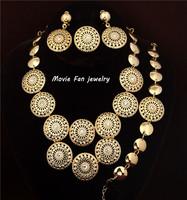 Daren Design Dubai Jewelry 18K Gold Plated  Necklace Set Wedding/ Bridal Jewelry set african set DRSC711