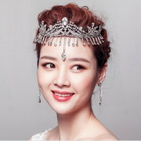 IN STOCK  Latest  Luxury Crystal Crown Wedding Jewelry Crown Bridal Tiara Crown  Wedding Tiara