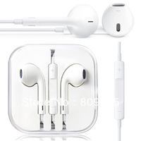2013 100% EarPods Ear pod Headset Earphone Headphone With Remote & Mic For Apple IPhone 5 5G In Box Gift Free Shipping