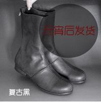 big size 45 Jiniwu 2014 fashion men's vintage slim handmade tie-line skin scrub round toe genuine leather cool martin boots JN22