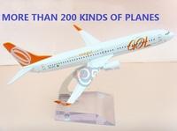 Metal  Brazil  gol plane model boeing b737 model aircraft model gol 16cm