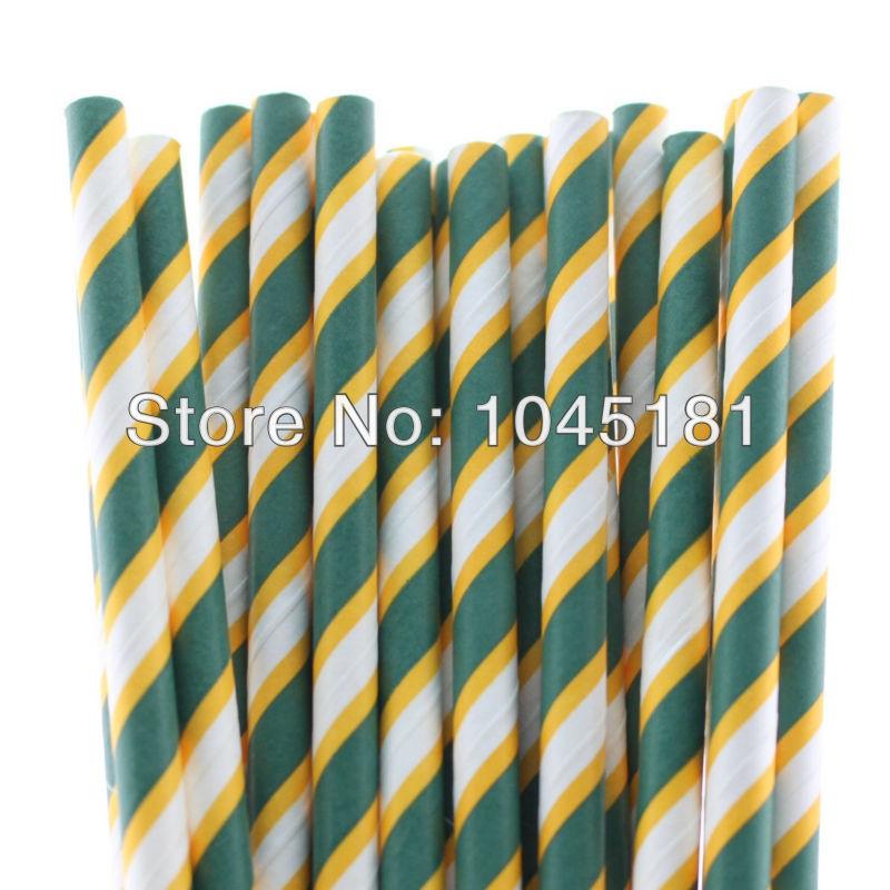 Green Striped Paper Straws Striped Paper Straws 11000