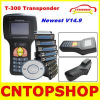 Latest Version V14.9 T300 Key Programmer Chip Key Decoder T 300 English/Spanish Key Transponder Works Multi-Car DHL Fast