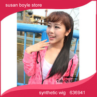 hot sell Straps straight ponytail tied supernatural style fake ponytail straight hair wig piece free shipping matt