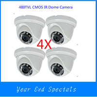 Clearance Sales!! PAL/NTSC  Indoor IR Dome Camera 480TVL 1/4 CMOS 24 IR LED 3.6mm Lens  Night Vision DP-828CH
