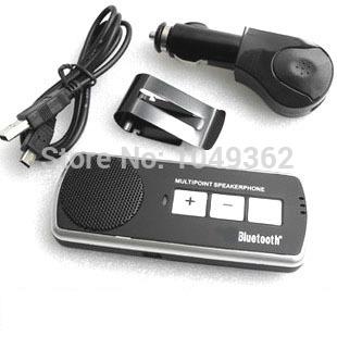 Wireless Bluetooth Handsfree Handset Speaker Car Kit For iPhone Mobile Phone New(China (Mainland))