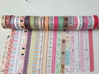 1392 ! patterns rice paper tape, Vintage.diy adhesive tape,Japanese tape masking sticker mix , 30pc/lot free shipping