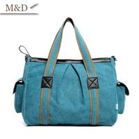 Blue Fashion Women Canvas Bag Ladies Handbags Messenger Bags Large Size Totes High Quality Canvas