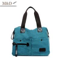 New Arrival Blue Canvas Fashion Women Handbags High Quality Canvas Messenger Bag Travel Bags Promotion