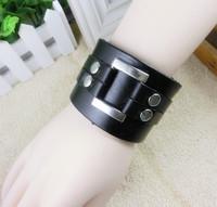 VB233 Wholesale 2014  New Items Men And Women Bracelets & Bangles Leather Bracelet Wide Cool Bracelet Gifts High Quality