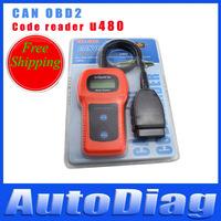 Free Shipping! 2013 High Quality U480 OBD2 CAN BUS & Engine Code Reader U480 Code Reader Scanner for VW,AU-Di U480 Scanner
