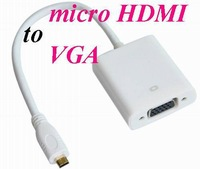 MICRO / mini HDMI to VGA Female Video Cable Cord Converter Adapter for PC Laptop mini / micro HDMI to VGA Cable*500pcs/lot
