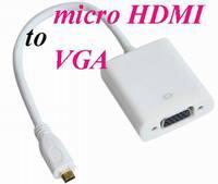 MICRO / mini HDMI to VGA Female Video Cable Cord Converter Adapter for PC Laptop mini / micro HDMI to VGA Cable*500pcs/lot