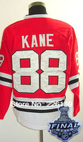 2014 New Hockey Chicago Blackhawks Jerseys #88 Patrick Kane Jersey With 2013 Stanley Cup Finals Emblem Embroidery logos