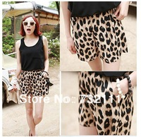 NEW 2014 Summer Fashion Casual Womens Leopard Middle Waist Minishort Pants Shorts