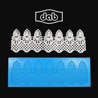 DAB Silicone Lace Mold Fondant Cake Decorating Tools Silicone Cake Mold Mat For Fondant Cake Tools Kitchen Accessories TS40100