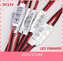5 pz/lotto 12 v mini 3 chiavi singolo colore led controller brightness dimmer per led 3528 5050 luce di striscia di trasporto libero(China (Mainland))