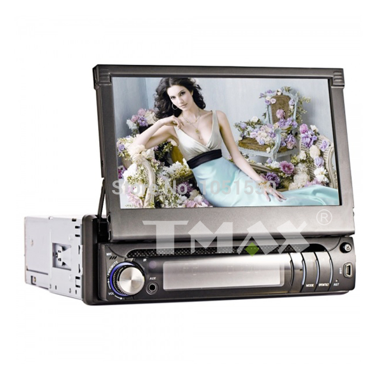 Free shipping7 Inch 1Din Digital Panel Car Stereo DVD Player Support Ipod,Bluetooth,RDS,Touch Screen(China (Mainland))
