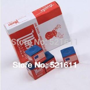Free shipping 12pcs/lot Master billiard snooker chalks colorful chalks(China (Mainland))