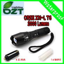 Para E17 del CREE XM - L T6 2000Lumens cree llevó la luz de la antorcha de Zoomable del CREE LED linterna antorcha para 3xAAA o 1x18650(China (Mainland))