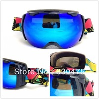2014 new arrival professional ski eyewear/ womens skiing goggles/ oversized spherical double layer anti-fog lens