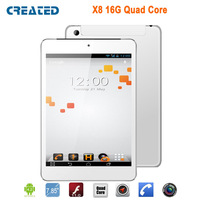 CREATED X8 8 inch quad core 3g  tablet pcs  mini pad phablet android 4.2 GPS IPS Wifi 1G Ram 16G Rom
