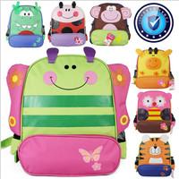 Bigger size animal shaped children backpack children double shoulder school bag kids backpack dinosaur tiger butterfly dog