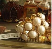 Hot sale 2014 Trend fashion bracelet statement chunky pearl bracelet Factory Wholesale Price Bracelets & Bangles