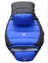 -15 Degree Winter Outdoor Down Sleeping Bag Mummy Type Duck Down Winter Thickening Down Sleeping Bag -25 Degree(China (Mainland))