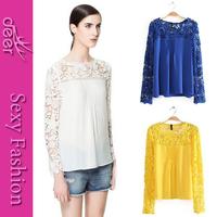 2014 new women roupas tops vintage korean style lace shirt  feminine blouse femininas blusa de renda blouses crochet plus sale