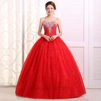 New arrival handmade 2014sparkling diamond wedding dress red wedding dress the bride vestido de novia vestido de noiva
