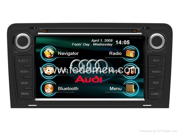 7 inch touch screen Car DVD GPS Model for Audi A3(China (Mainland))